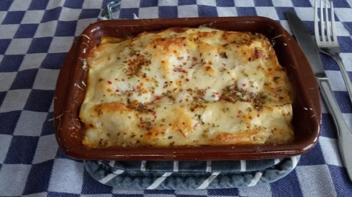 Lasagne met verse tomaten-gehaktsaus