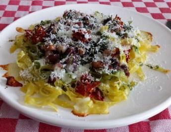 Pesto van postelein met pasta