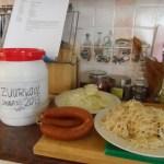 Ingrediënten voor de zuurkool met krabbetjes