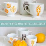 Ridiculously Easy Diy Graphic Fall Halloween Coffee Mugs The Organised Crafterbrain
