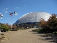 Silver Dome of Old Civic Arena in Pittsburgh, PA