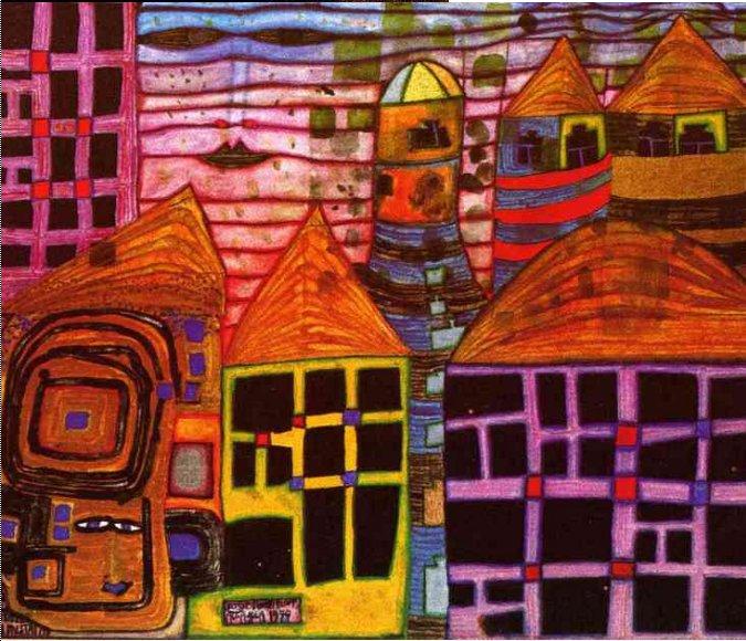 """Résultat de recherche d'images pour """"hundertwasser peinture maison"""""""
