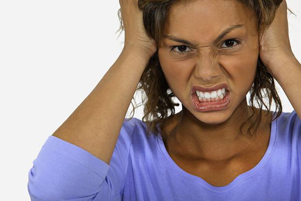Angry woman.