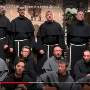 Message d'espoir des novices franciscains d'Assise