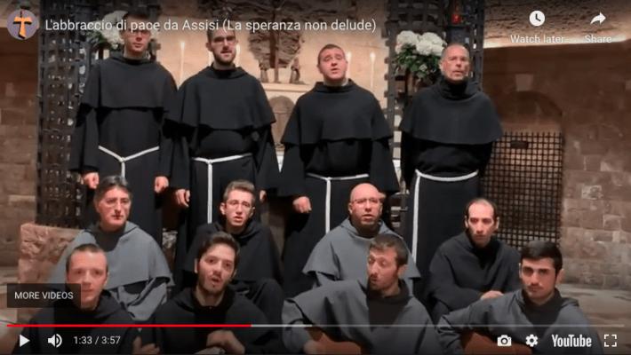 Message d'espoir des novices franciscains d'Assise