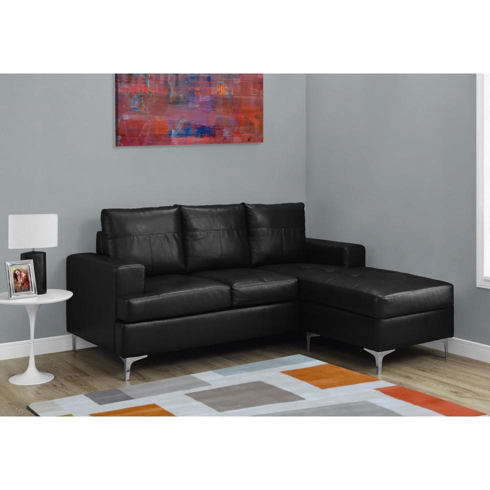 sofa chaise longue i8600bk noir