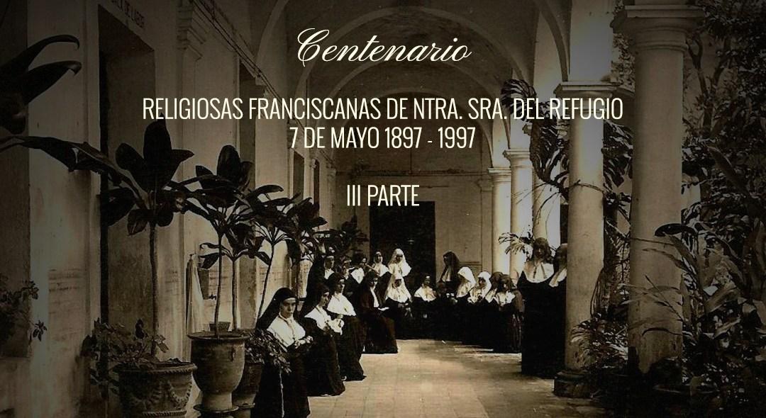 III Parte: Poesías en recuerdo del Centenario de la fundación de la Congregación