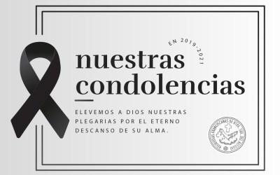 Nuestras condolencias