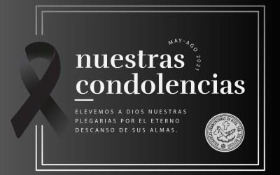 Nuestras condolencias May-Ago 2021