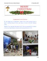 Vietnam Mission Delegation Newsletter – Christmas 2017
