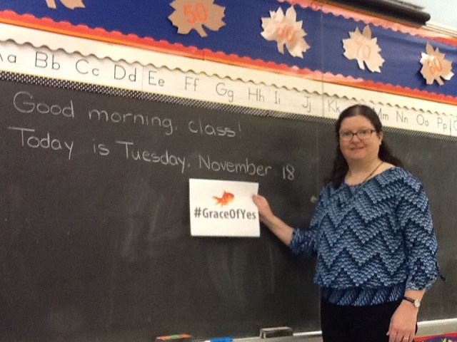 grace of yes day classroom photo