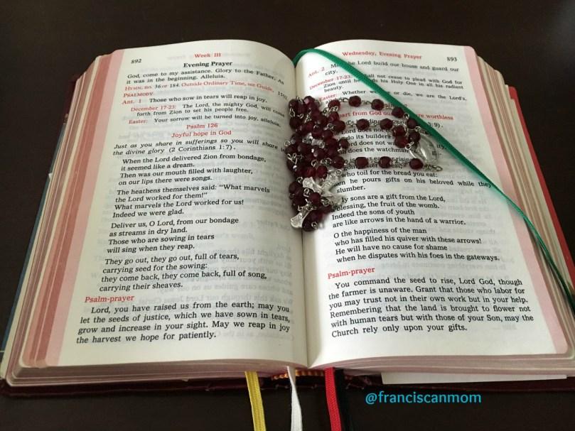 Red rosary breviary C