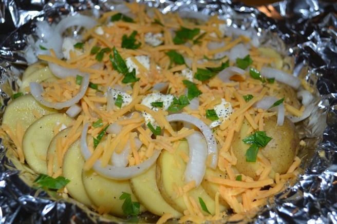 Cheesy Potato packets by Barb Szyszkiewicz @franciscanmom