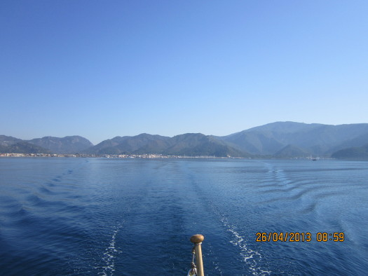 Leaving Marmaris, Turkey