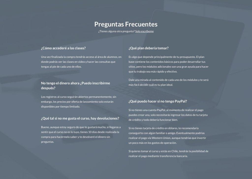 Diseño Preguntas Frecuentes