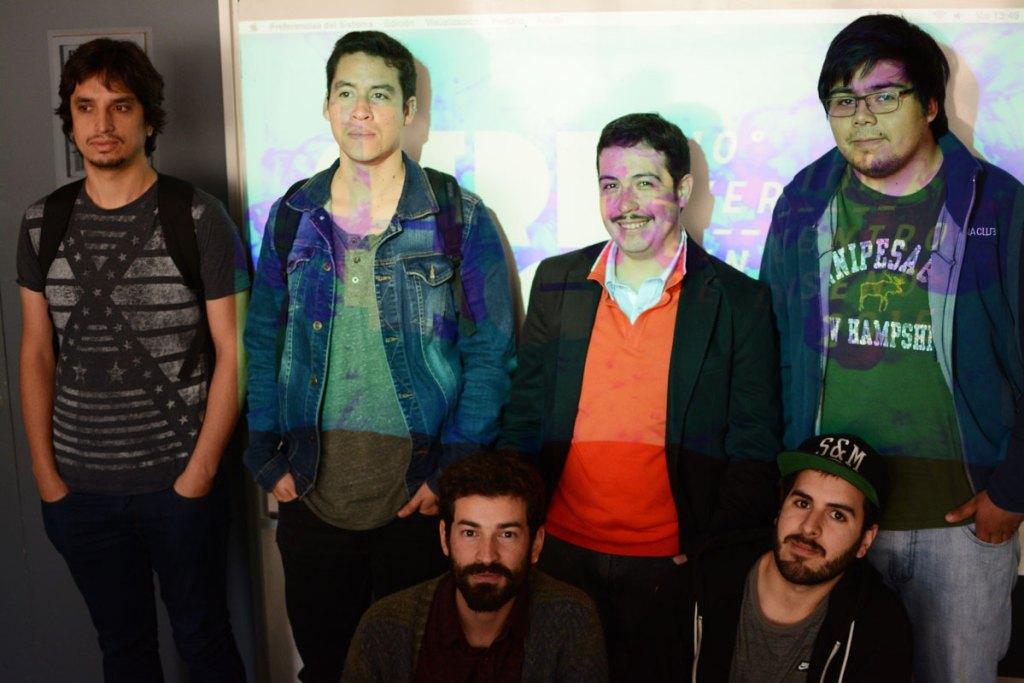 Algunos de los estudiantes del taller de diseño web