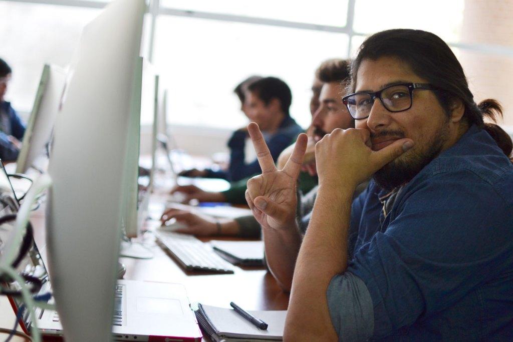 Estudiantes del taller de diseño web