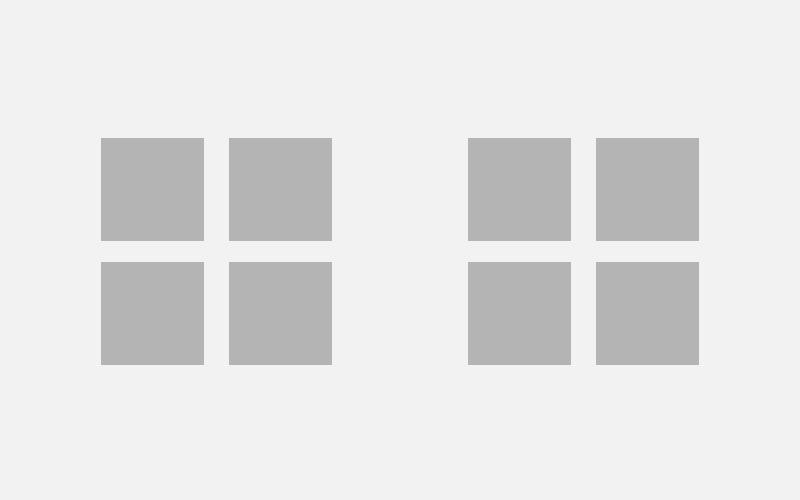 El espacio en blanco al centro divide los elementos en 2 bloques principales.