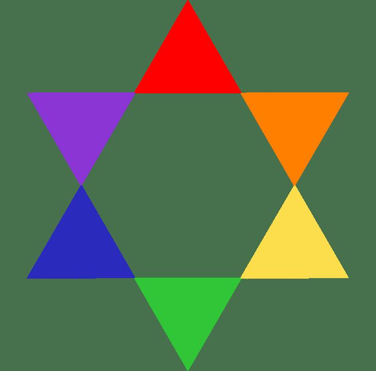 Rosa cromática - Colores secundarios