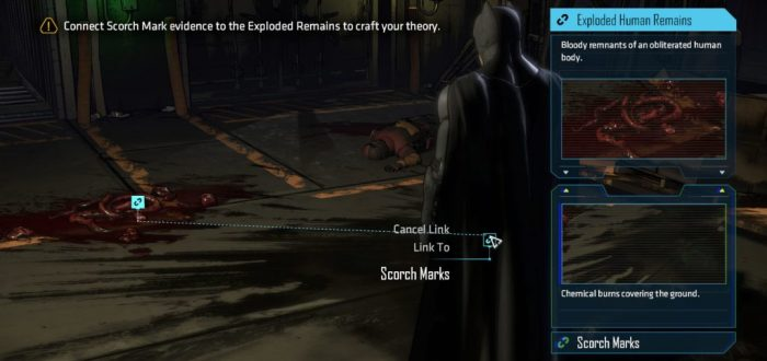 Batman telltale game scene investigation