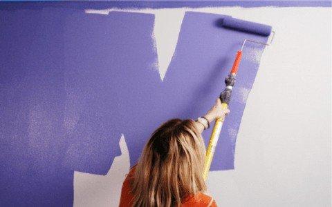 técnica de como pintar una pared
