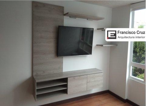 Diseño de muebles moderno para tv