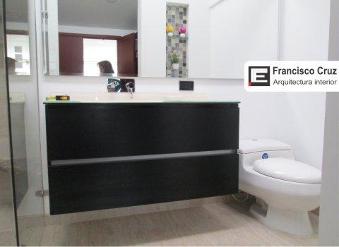 Remodelacion de baño moderno