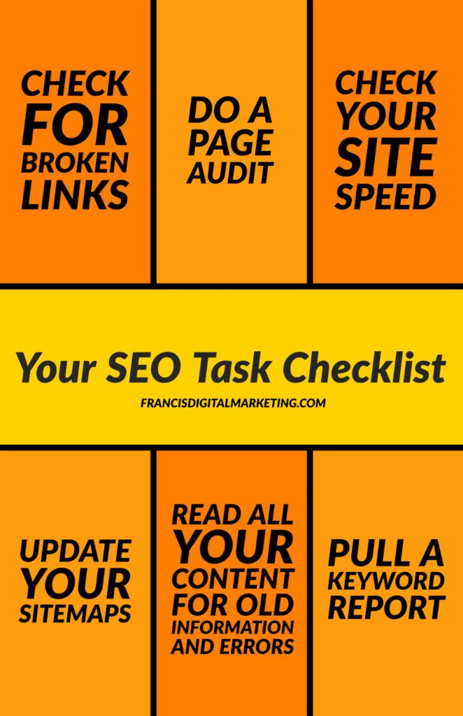 6 SEO Tasks You Should Do Regularly Infographic