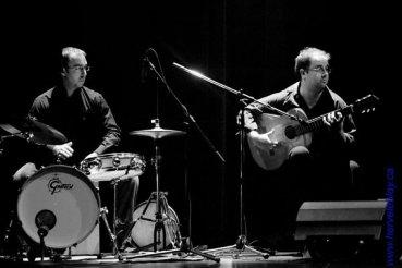 Avec Jean-Philippe Parent, percussionniste (Compasion). (Hervé Leblay)