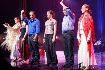 Fin de spectacle avec La Poésia del Flamenco. (Hervé Leblay)