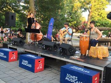 Zones musicales de Laval, 2017. Trio Francis Leclerc - Marise Demers et Jérémie Jones.