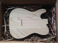 Brand new 3-pc swamp ash body (back)