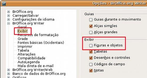 BrOffice.org Writer não mostra figuras (2/3)