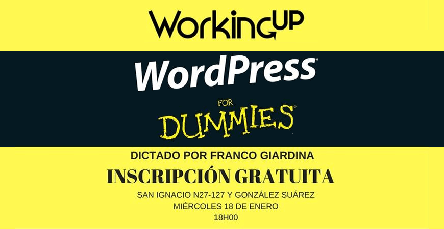 Workshop gratuito: WordPress for Dummies