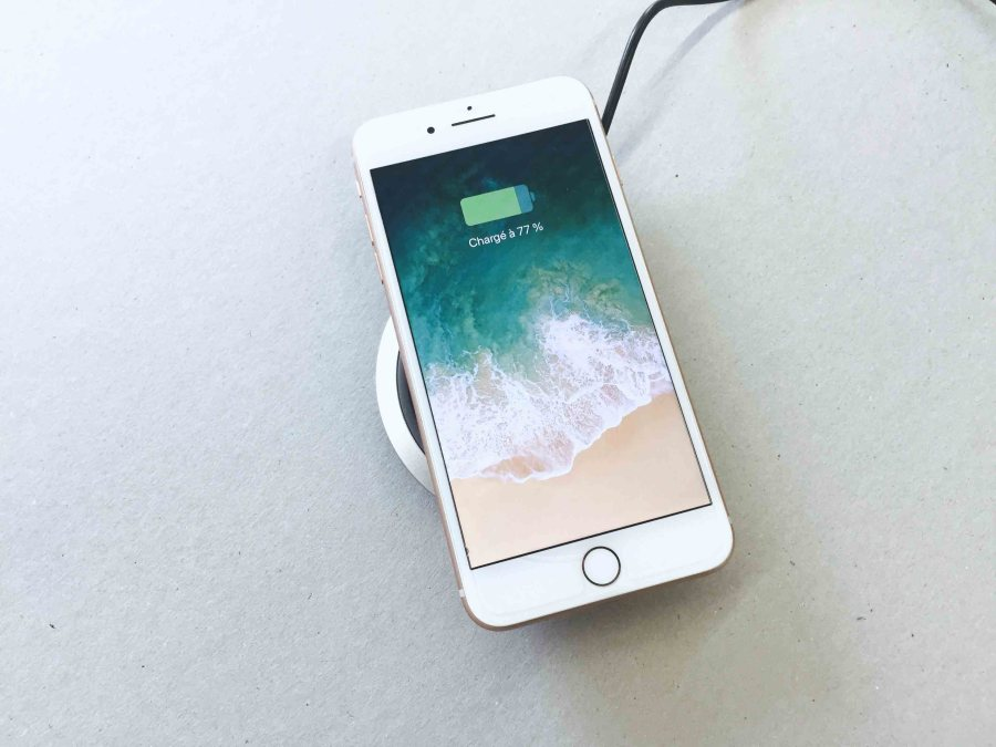 chargeur sans fil recharge iPhone 8 plus