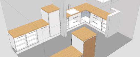 plan de cuisine bureau et chambre ikea
