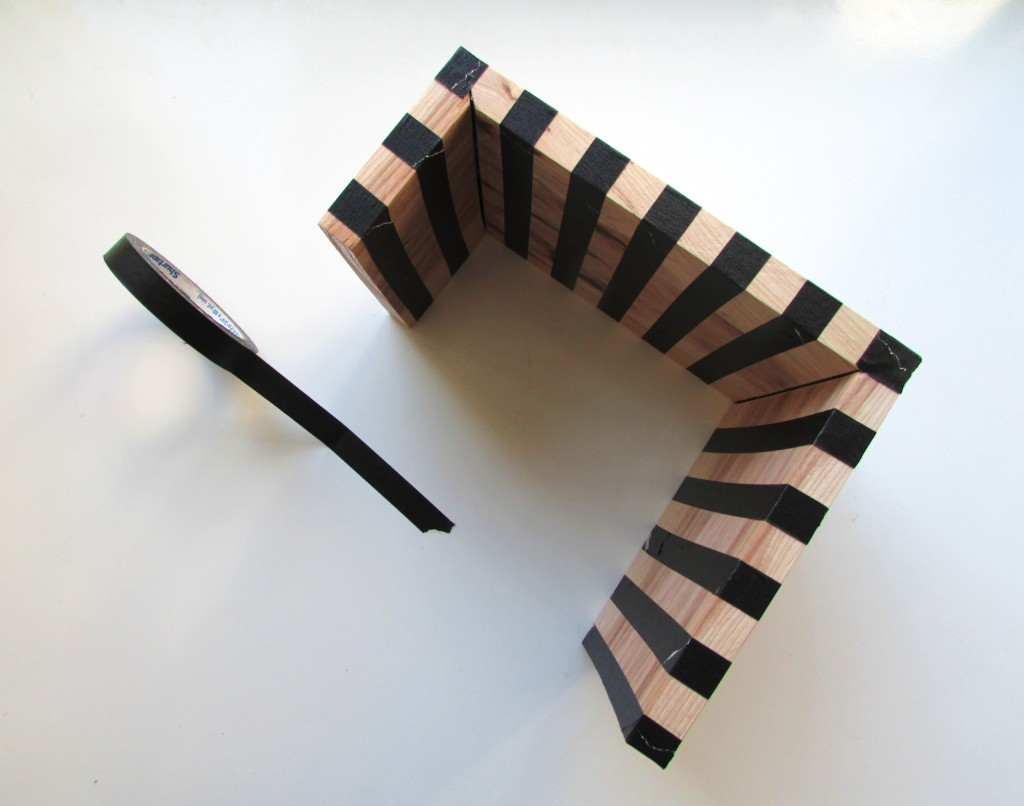 sofa glue band black and cream throws diy striped drink perch francois et moi