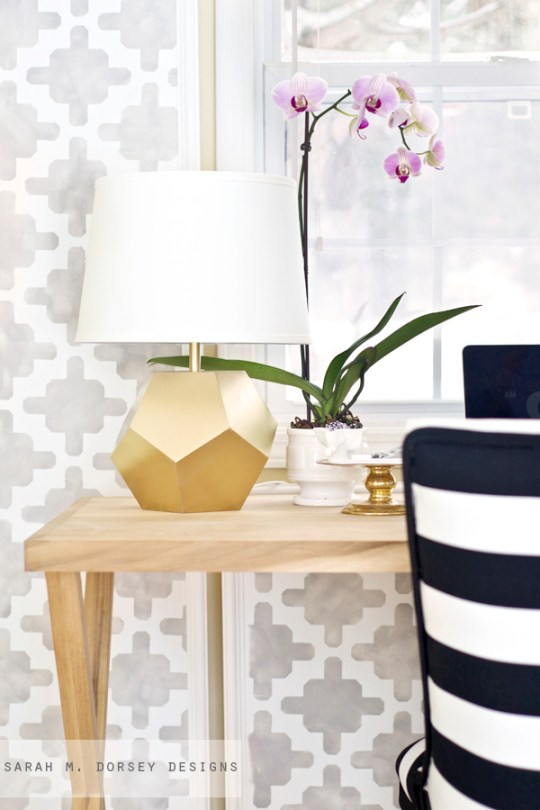 gold geometric lamp 5