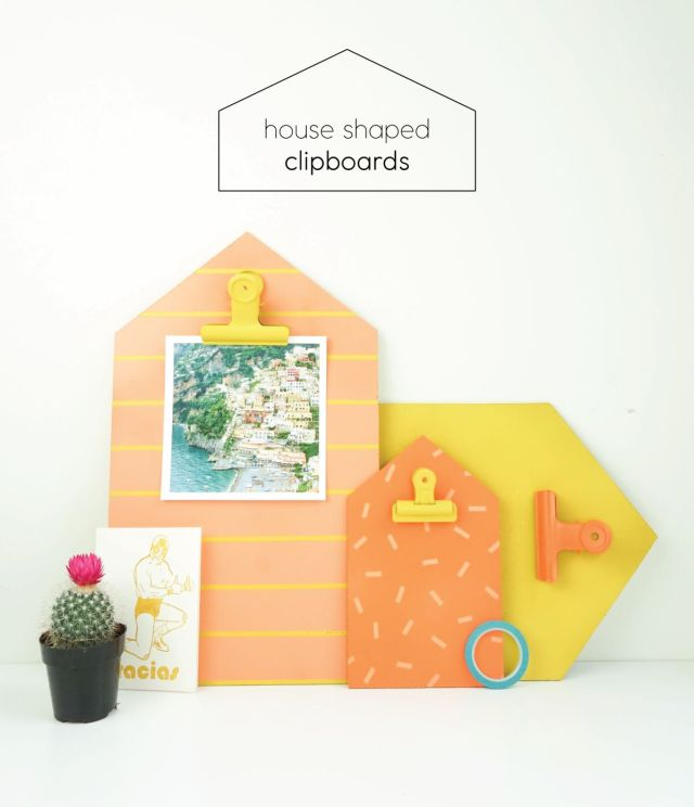 Colorful House Clipboards for Back to School | Francois et Moi