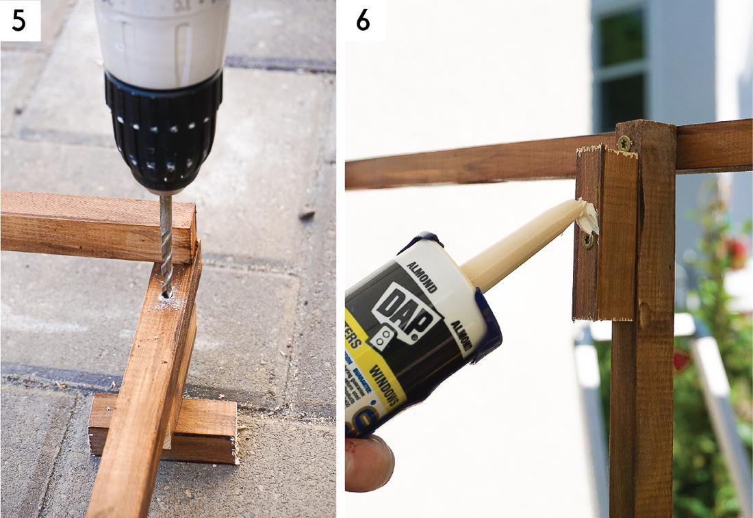 Apprenez exactement comment construire un treillis en grille moderne pour votre espace extérieur! Cliquez pour le tutoriel.
