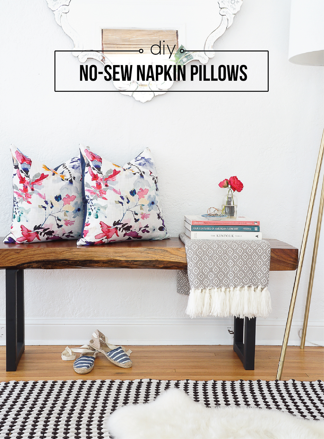 The Easiest Diy Pillows Ever No Sew Envelope Pillows Made From