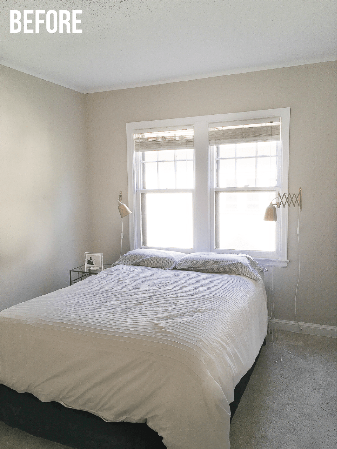 A Mini Bedroom Makeover: see how we transformed our bare, forgotten bedroom into a cozy retreat with a few minor additions.