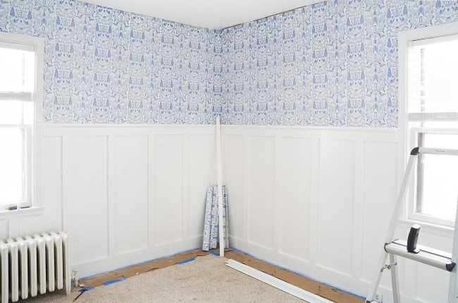 It's post 4 of our 6 week nursery design project. We made leaps and bounds with board & batten and wallpaper. Come check it out!