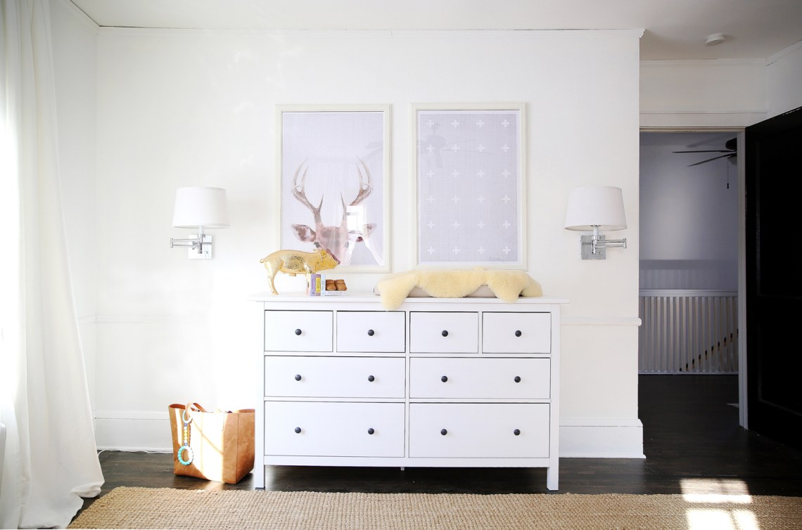Load up nursery inspiration with Luxe + Lillies' minimal and serene nursery! Click over for every detail including sources!