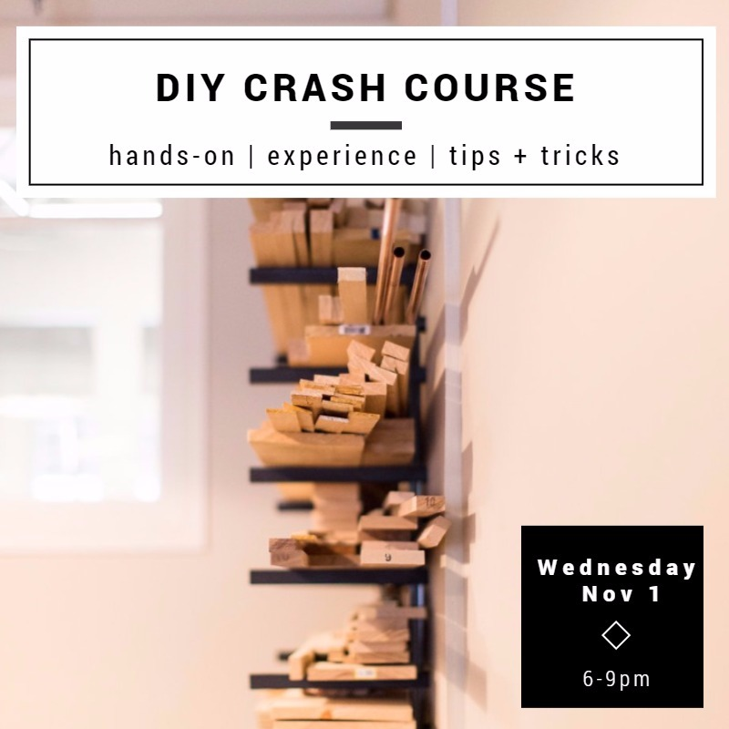 Join us for a DIY Crash Course of hands on experience + tips and tricks with industry experts! Click through for details!