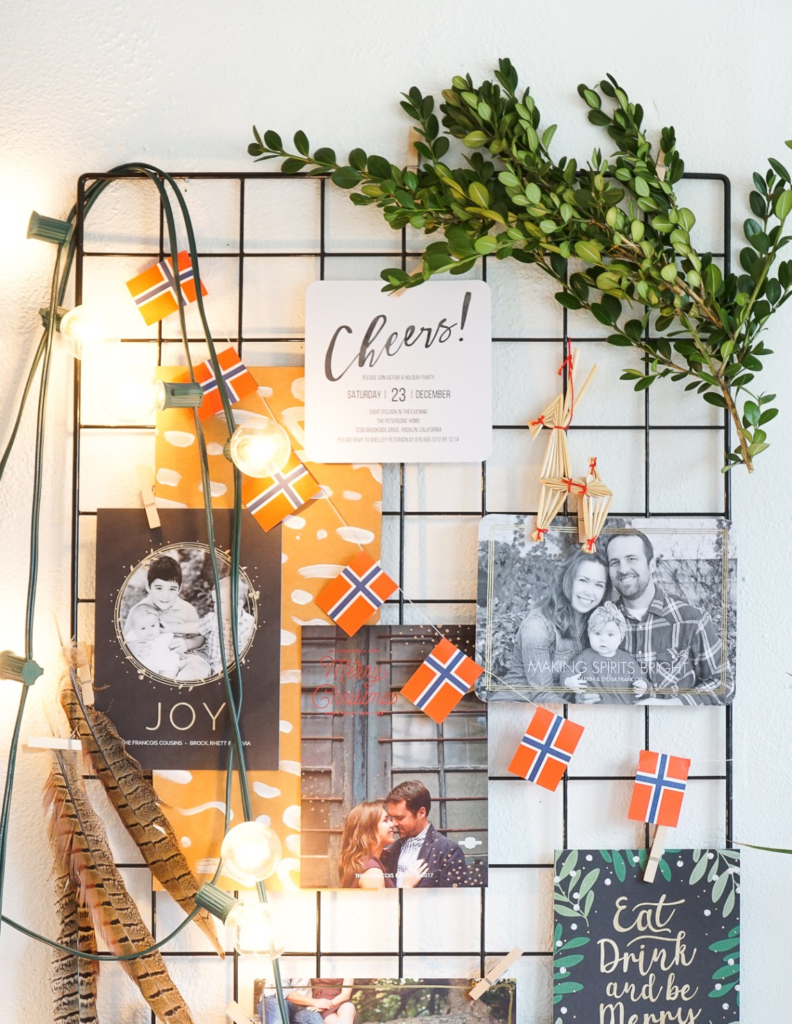 Watch the short and sweet video on making a Holiday Card Moodboard for displaying season's greetings from friends and family. In partnership with Mixbook.