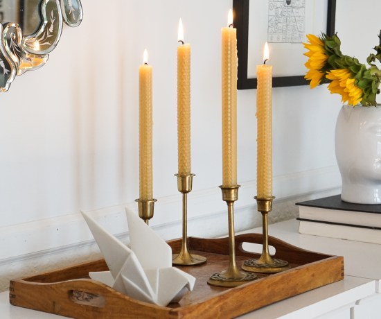 38ab24721 How to Make Beeswax Taper Candles Without the Mess! (Video)