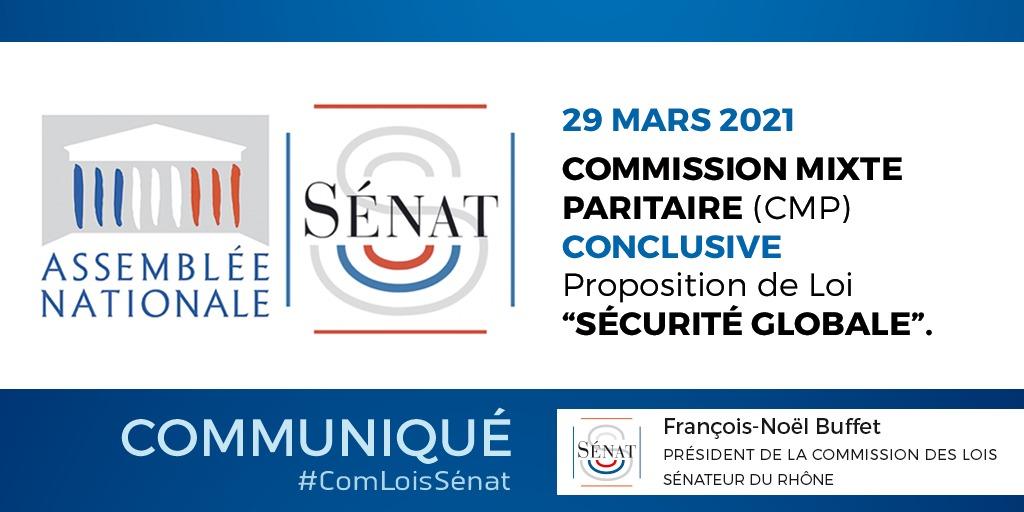 Sécurité globale : Accord avec l'Assemblée nationale sur un texte qui retient de nombreux apports du Sénat – 29/03/2021