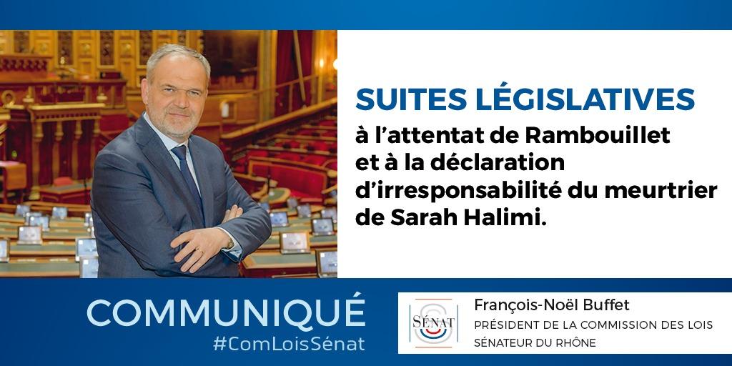 Suites législatives à l'attentat de Rambouillet et à la déclaration d'irresponsabilité du meurtrier de Sarah Halimi