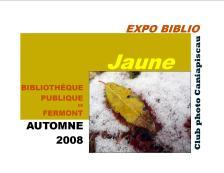 8 Expo Biblio_Jaune affiche